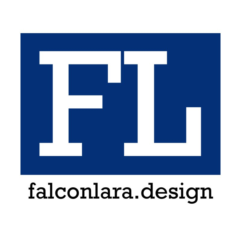 FL Design Blue Logo Accessories Notebook by falconlara.design shop