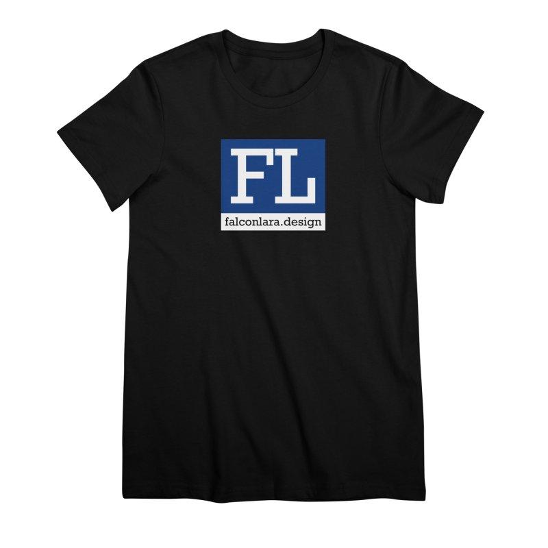 FL Design Blue Logo Women's Premium T-Shirt by falconlara.design shop