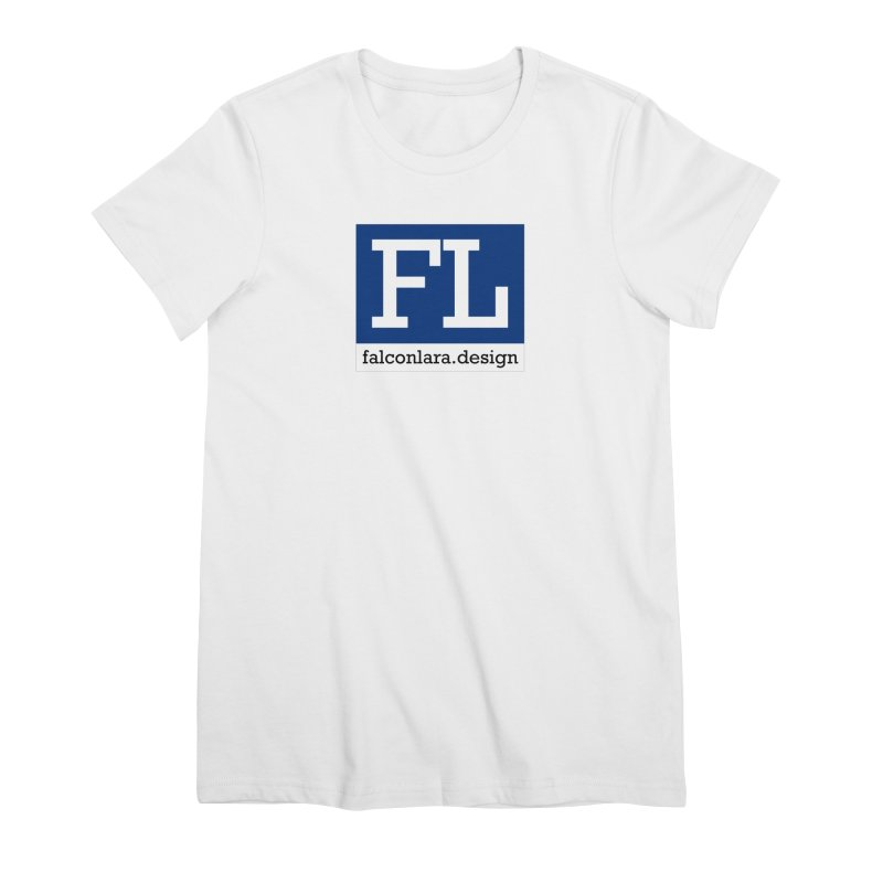 FL Design Blue Logo Women's Premium T-Shirt by falconlara.design shop