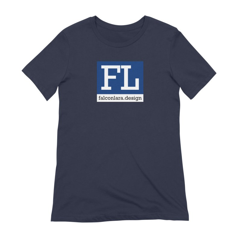 FL Design Blue Logo Women's Extra Soft T-Shirt by falconlara.design shop