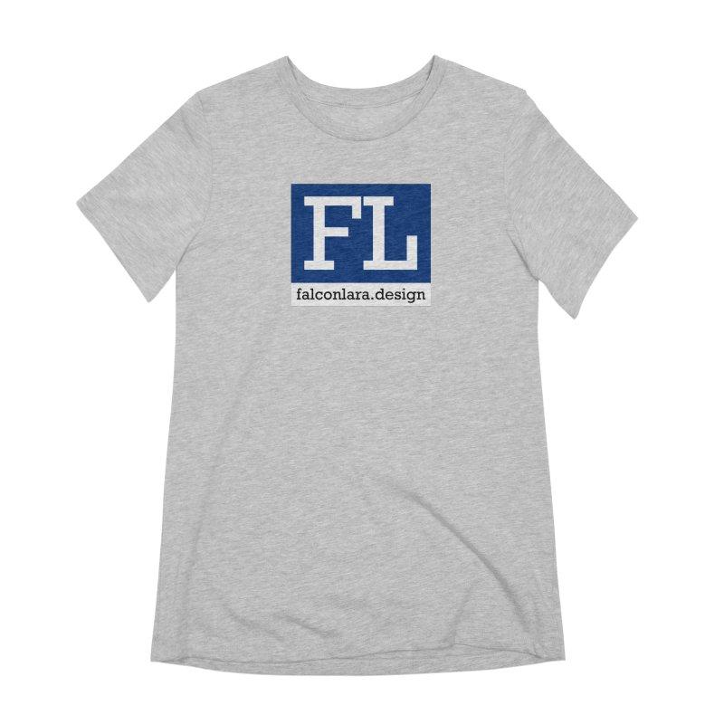 FL Design Blue Logo Women's Extra Soft T-Shirt by falconlara.design shop