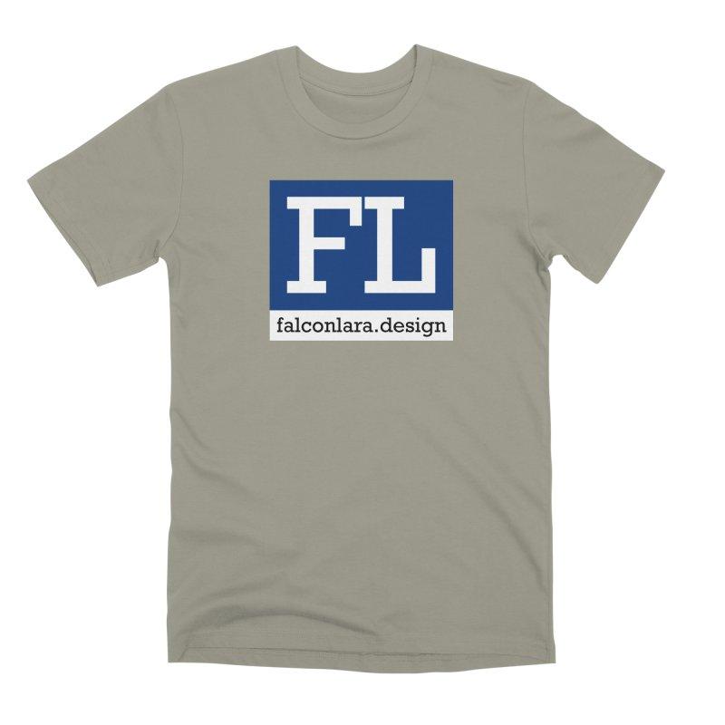 FL Design Blue Logo Men's Premium T-Shirt by falconlara.design shop