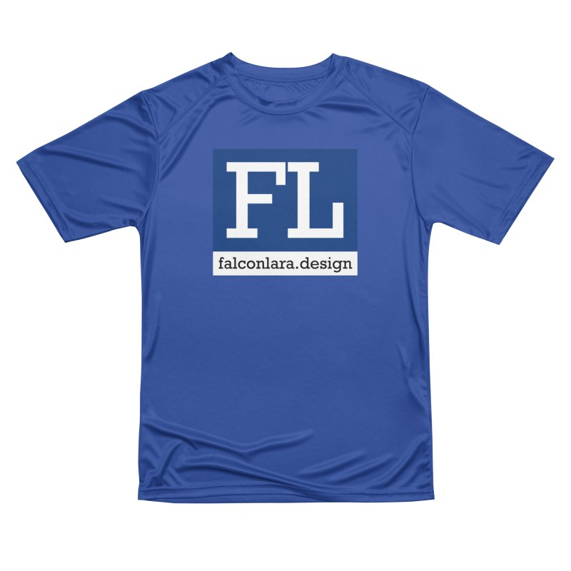 FL Design Blue Logo Men's Performance T-Shirt by falconlara.design shop