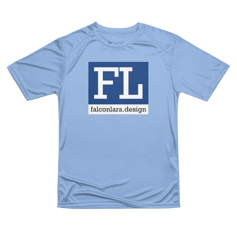 FL Design Blue Logo Women's Performance Unisex T-Shirt by falconlara.design shop