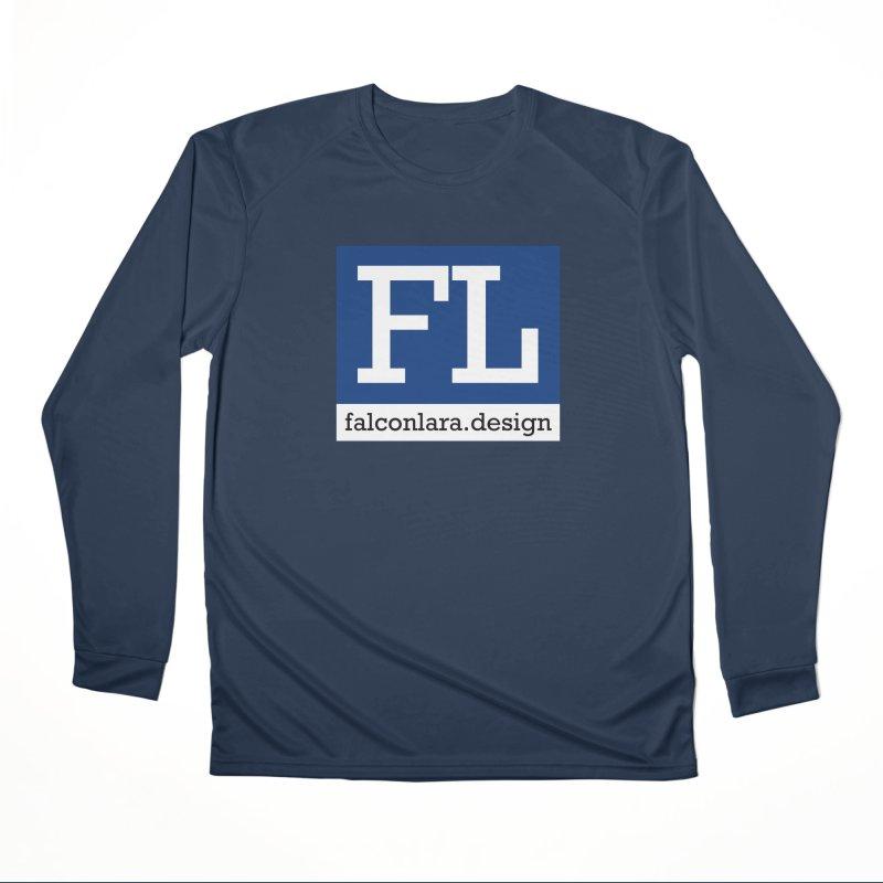 FL Design Blue Logo Men's Performance Longsleeve T-Shirt by falconlara.design shop