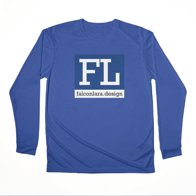 FL Design Blue Logo Women's Performance Unisex Longsleeve T-Shirt by falconlara.design shop