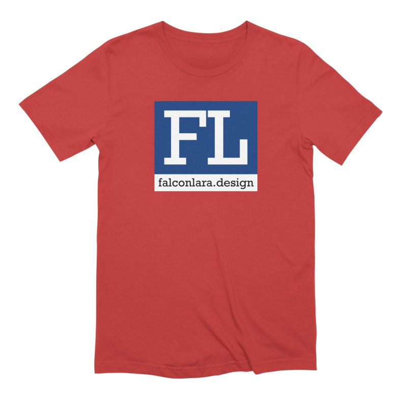 FL Design Blue Logo Men's Extra Soft T-Shirt by falconlara.design shop