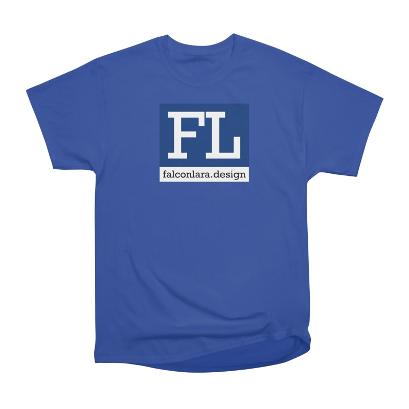 FL Design Blue Logo Women's Heavyweight Unisex T-Shirt by falconlara.design shop