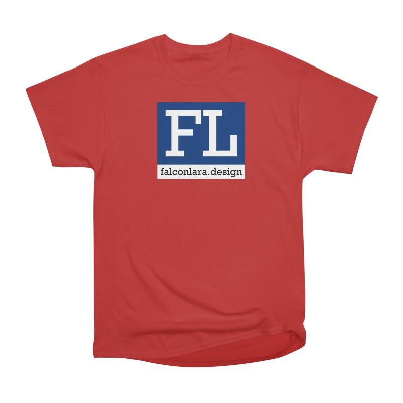 FL Design Blue Logo Women's Heavyweight Unisex T-Shirt by falconlara.design shop