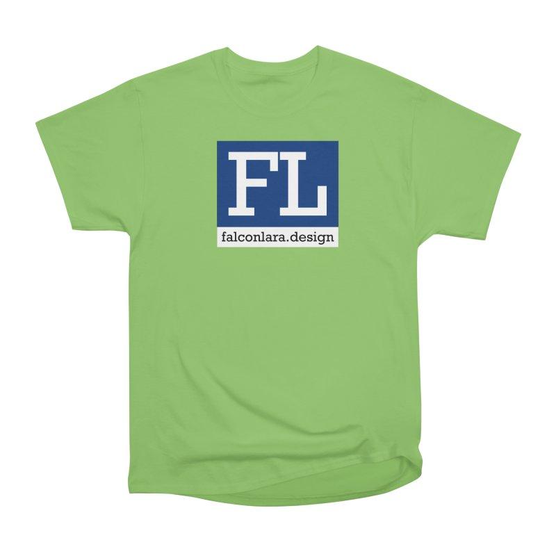FL Design Blue Logo Men's Heavyweight T-Shirt by falconlara.design shop