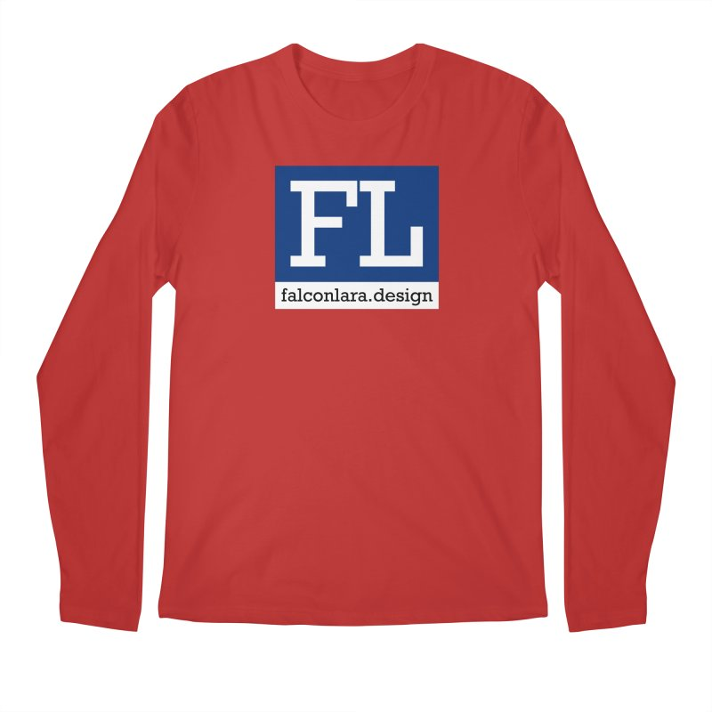 FL Design Blue Logo Men's Regular Longsleeve T-Shirt by falconlara.design shop