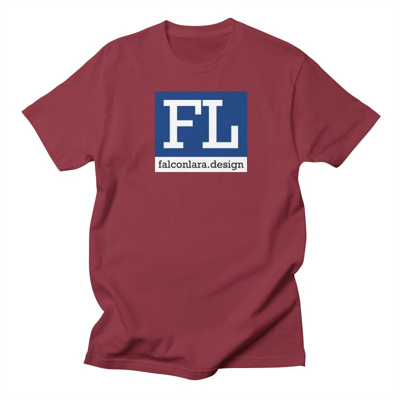 FL Design Blue Logo Men's Regular T-Shirt by falconlara.design shop
