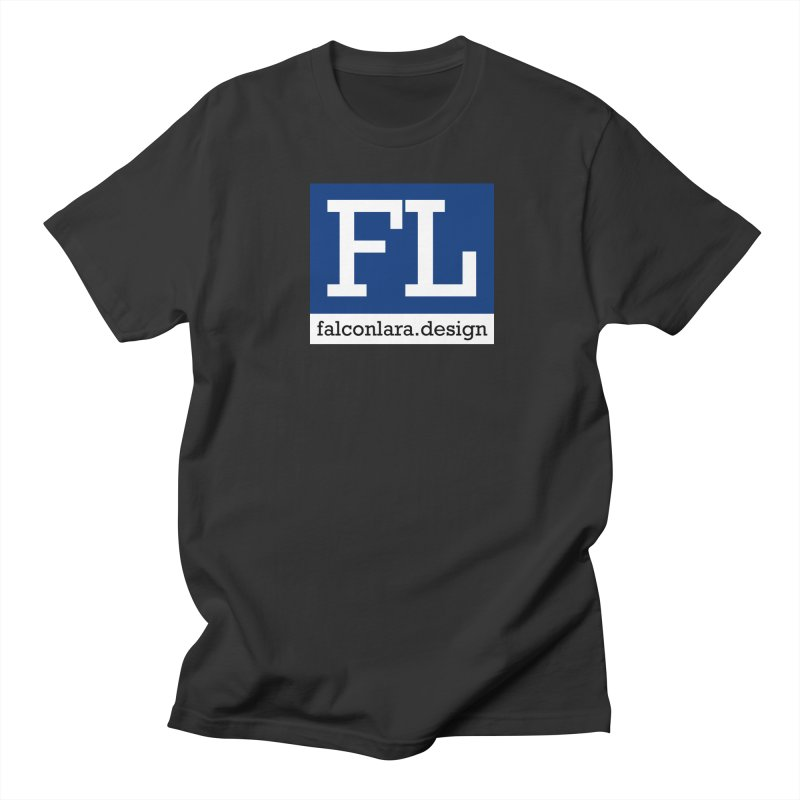 FL Design Blue Logo Men's Regular T-Shirt by falconlara.design shop