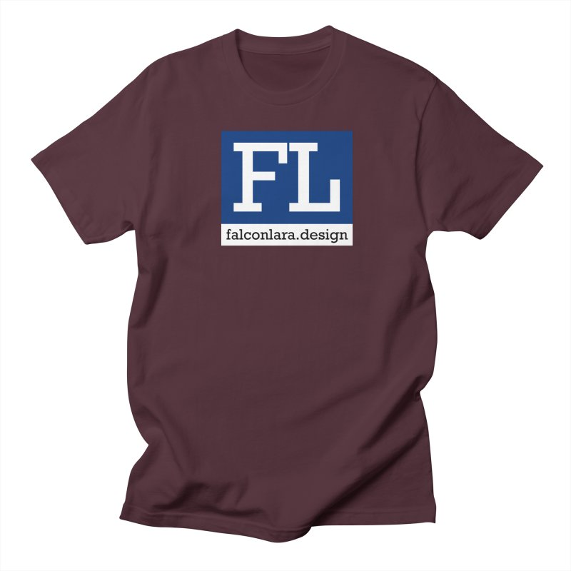 FL Design Blue Logo Women's Regular Unisex T-Shirt by falconlara.design shop