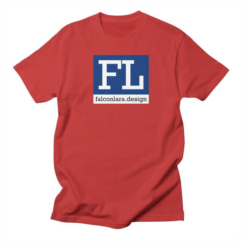 FL Design Blue Logo Women's Regular Unisex T-Shirt by falconlara.design shop