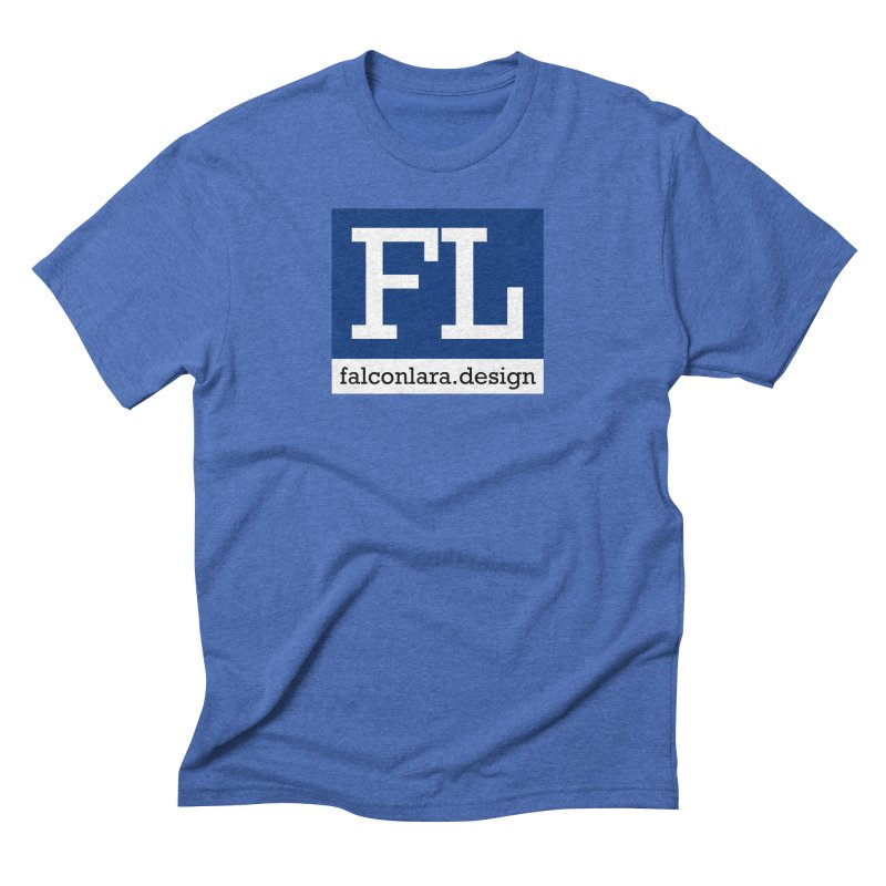 FL Design Blue Logo Men's Triblend T-Shirt by falconlara.design shop