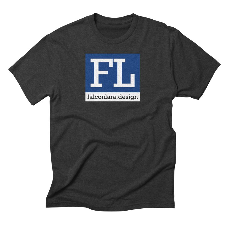 FL Design Blue Logo Men's Triblend T-Shirt by falconlara.design shop