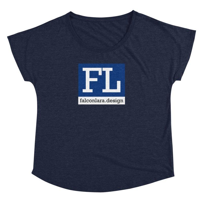 FL Design Blue Logo Women's Dolman Scoop Neck by falconlara.design shop