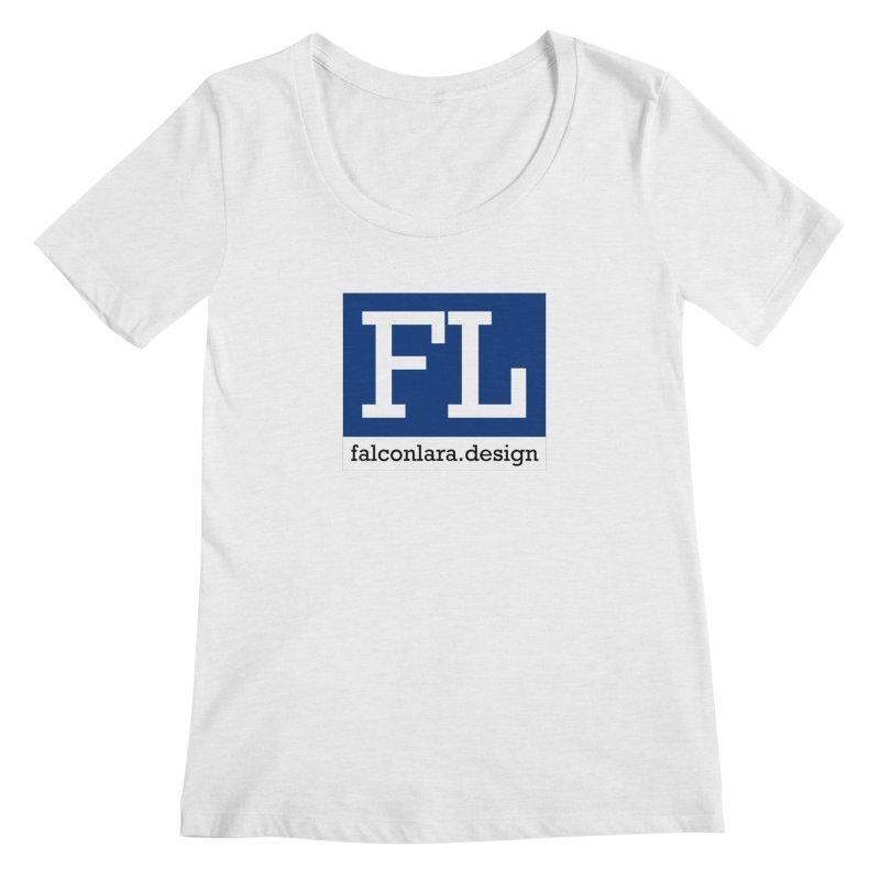 FL Design Blue Logo Women's Regular Scoop Neck by falconlara.design shop