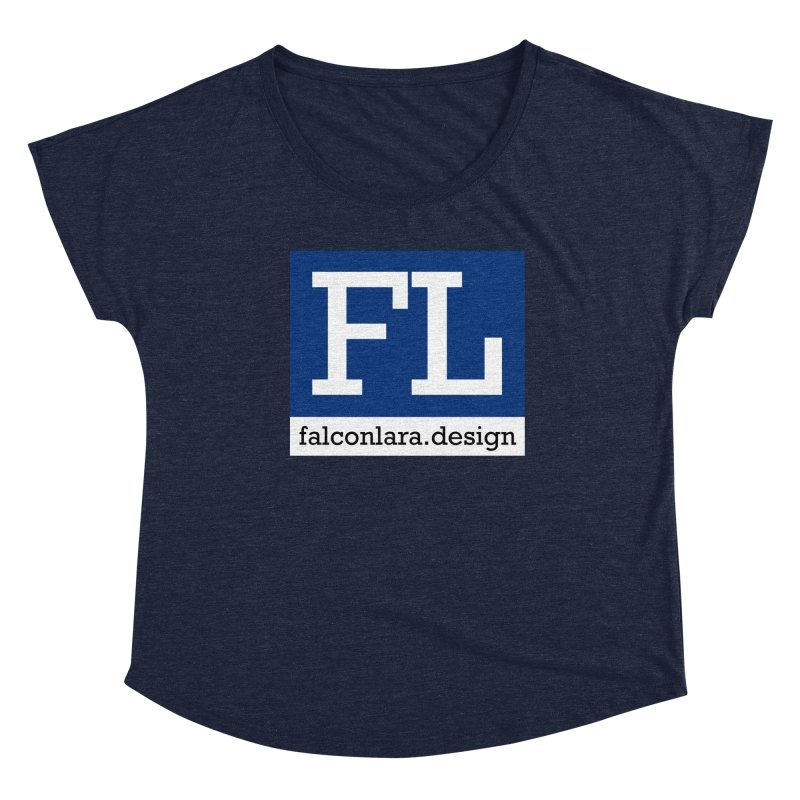 FL Design Blue Logo Women's Dolman Scoop Neck by falconlara.design shop