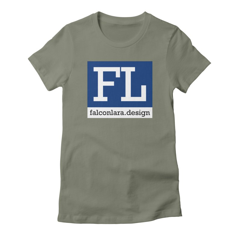FL Design Blue Logo Women's Fitted T-Shirt by falconlara.design shop