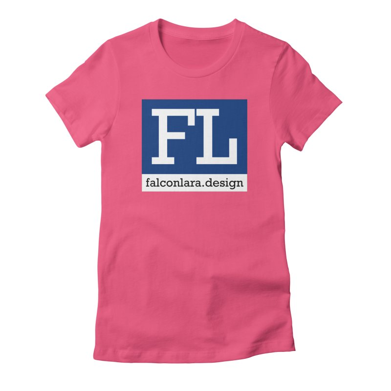 FL Design Blue Logo Women's Fitted T-Shirt by falconlara.design shop
