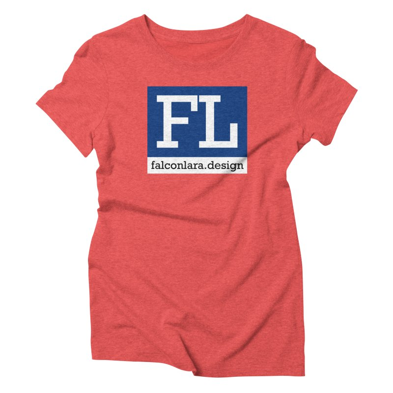 FL Design Blue Logo Women's Triblend T-Shirt by falconlara.design shop