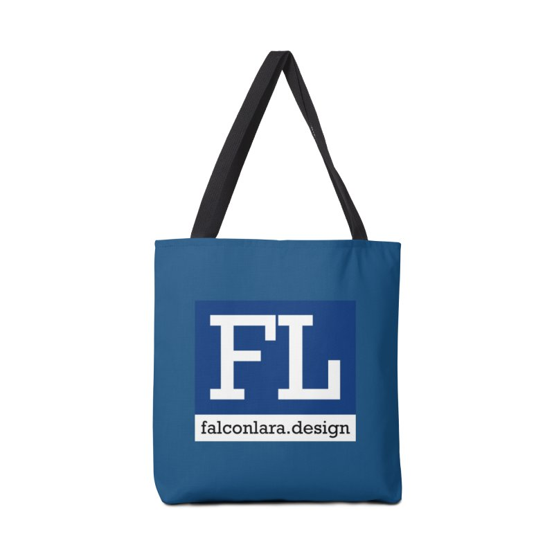 FL Design Blue Logo Accessories Tote Bag Bag by falconlara.design shop