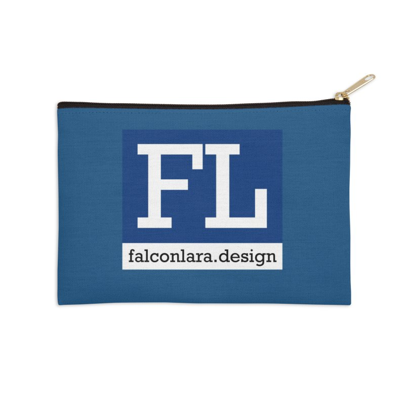 FL Design Blue Logo Accessories Zip Pouch by falconlara.design shop