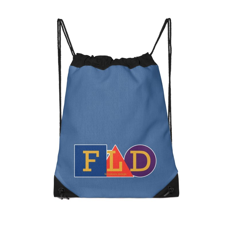 Basic Shapes Logo Accessories Drawstring Bag Bag by falconlara.design shop