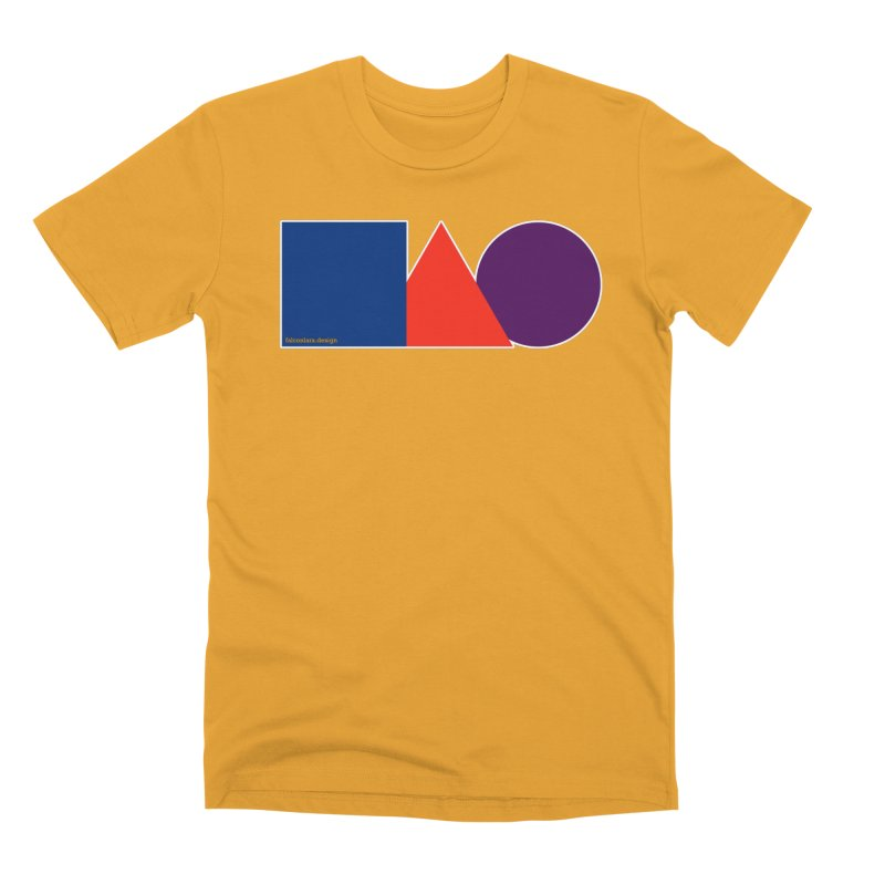Basic Shapes Logo Men's Premium T-Shirt by falconlara.design shop