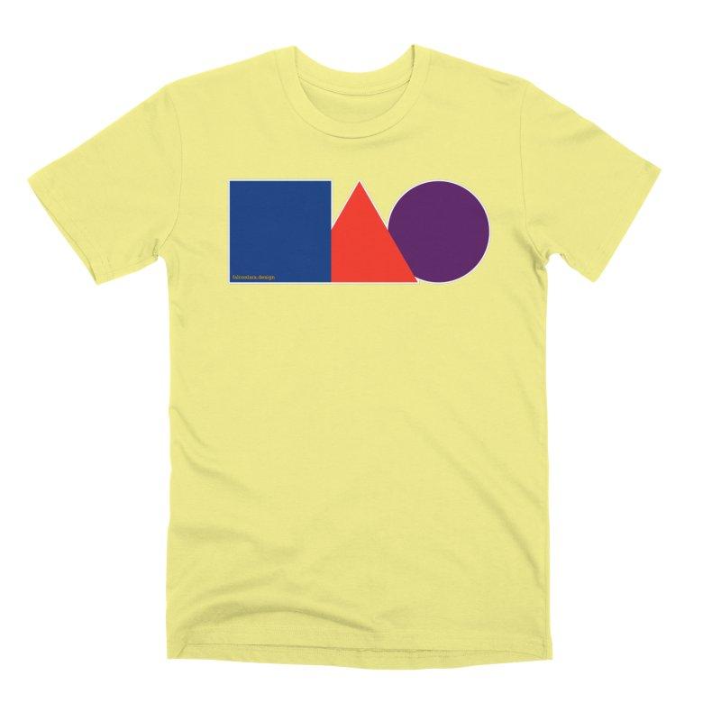 Basic Shapes Logo Men's Premium T-Shirt by falconlara.design shop