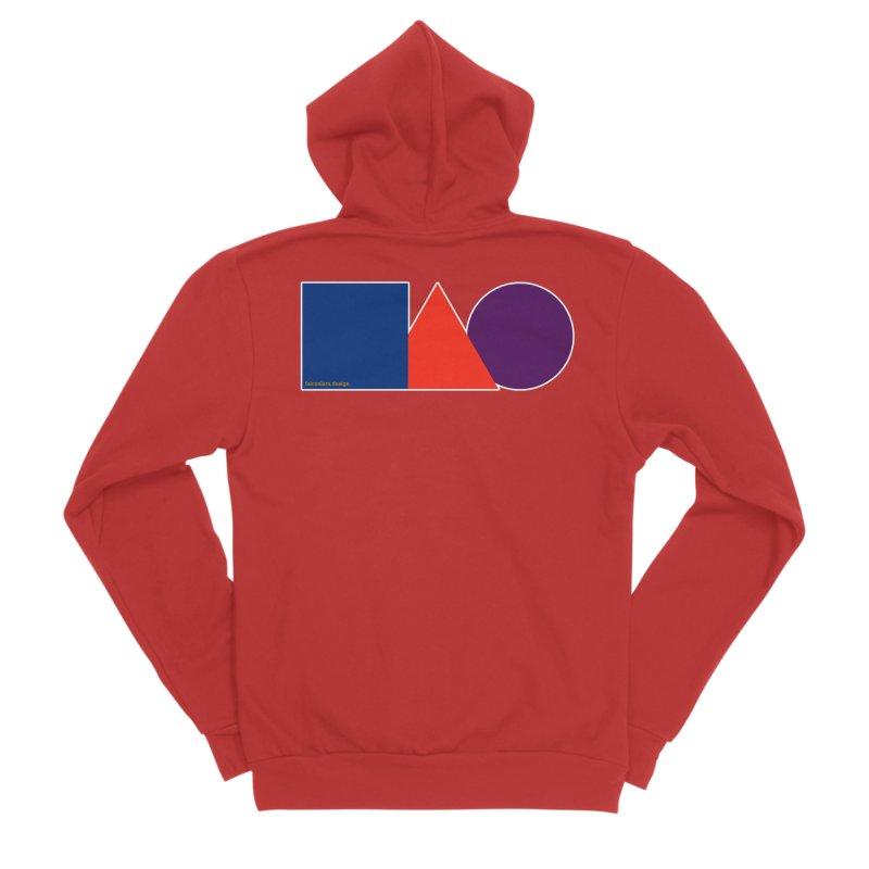 Basic Shapes Logo Women's Sponge Fleece Zip-Up Hoody by falconlara.design shop
