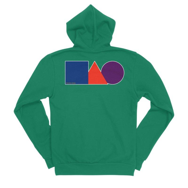 Basic Shapes Logo Men's Sponge Fleece Zip-Up Hoody by falconlara.design shop