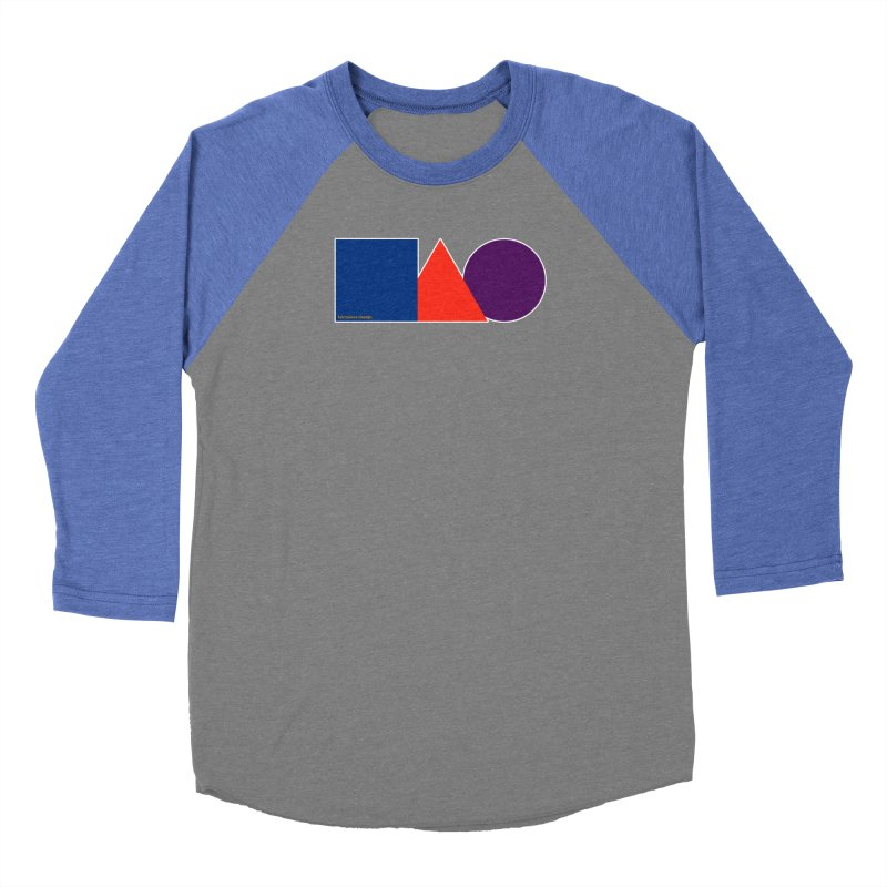 Basic Shapes Logo Men's Baseball Triblend Longsleeve T-Shirt by falconlara.design shop