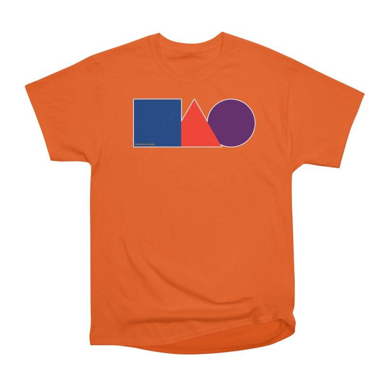 Basic Shapes Logo Men's Heavyweight T-Shirt by falconlara.design shop