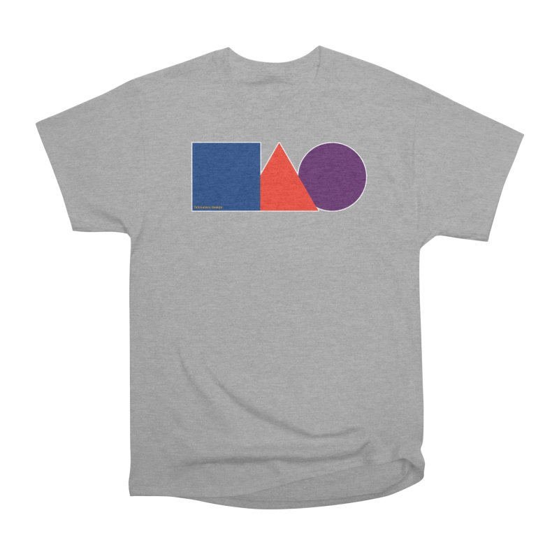 Basic Shapes Logo Women's Heavyweight Unisex T-Shirt by falconlara.design shop