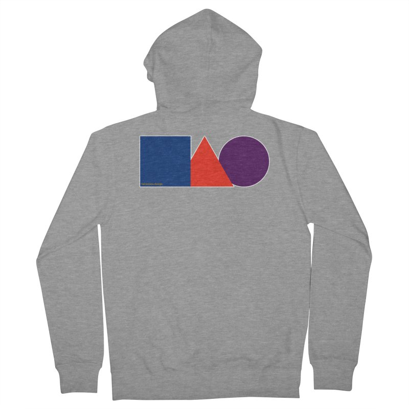 Basic Shapes Logo Men's French Terry Zip-Up Hoody by falconlara.design shop