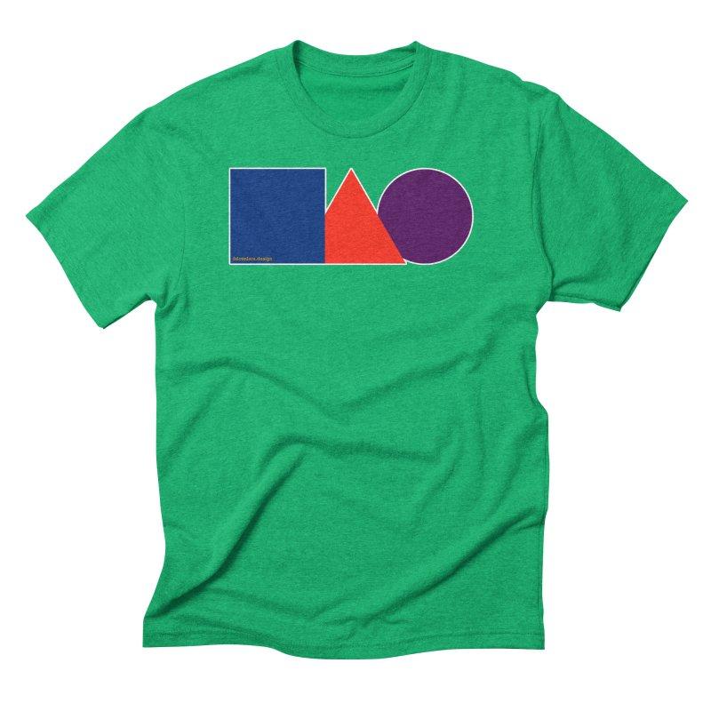 Basic Shapes Logo Men's Triblend T-Shirt by falconlara.design shop