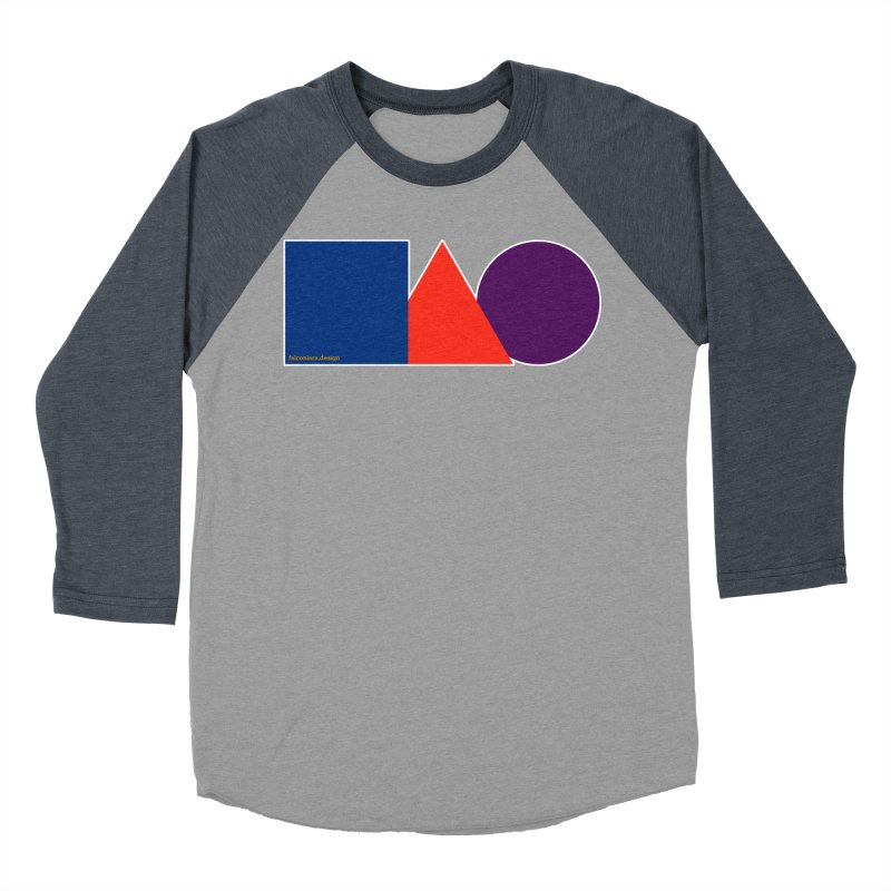Basic Shapes Logo Men's Baseball Triblend Longsleeve T-Shirt by falconlara.design shop