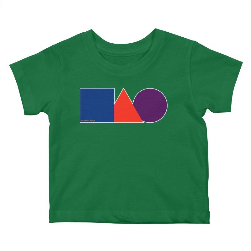 Basic Shapes Logo Kids Baby T-Shirt by falconlara.design shop