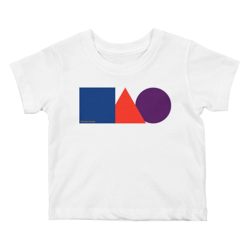 Basic Shapes Logo Kids Baby T-Shirt by falconlara.design shop