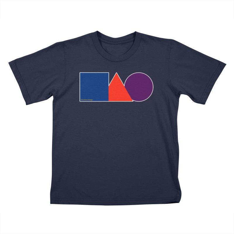 Basic Shapes Logo Kids T-Shirt by falconlara.design shop