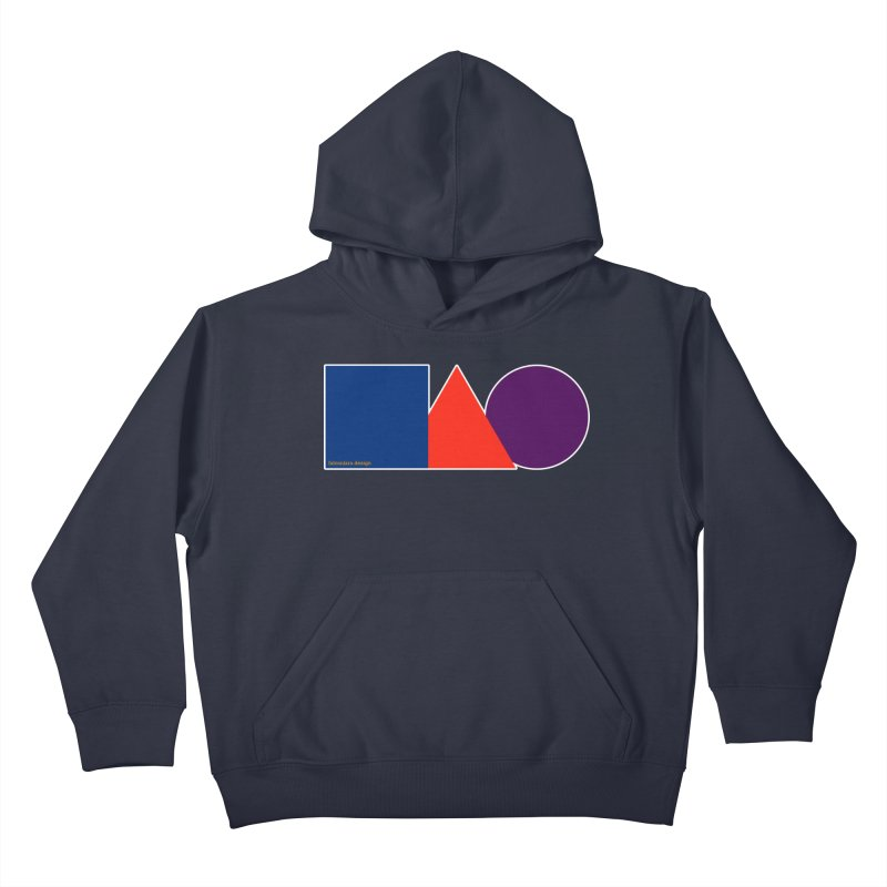 Basic Shapes Logo Kids Pullover Hoody by falconlara.design shop