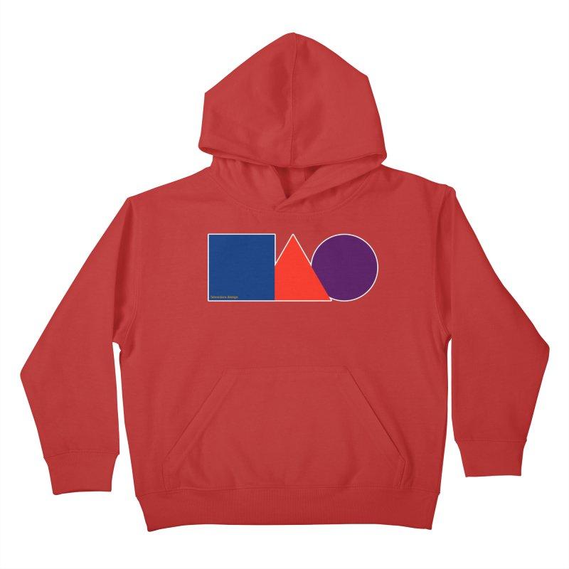 Basic Shapes Logo Kids Pullover Hoody by falconlara.design shop