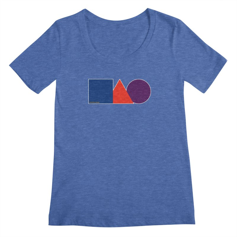 Basic Shapes Logo Women's Regular Scoop Neck by falconlara.design shop