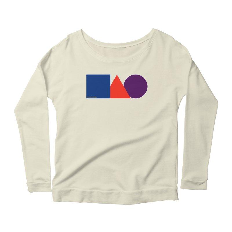 Basic Shapes Logo Women's Scoop Neck Longsleeve T-Shirt by falconlara.design shop
