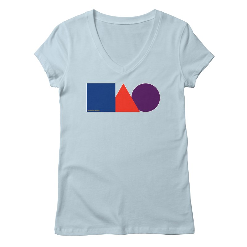 Basic Shapes Logo Women's Regular V-Neck by falconlara.design shop