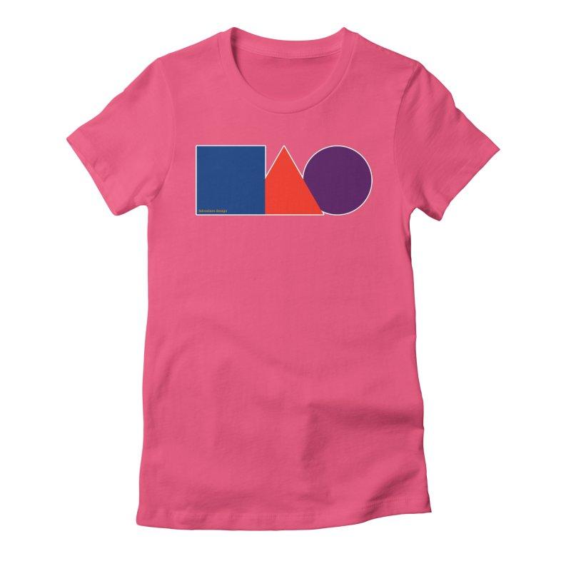 Basic Shapes Logo Women's Fitted T-Shirt by falconlara.design shop