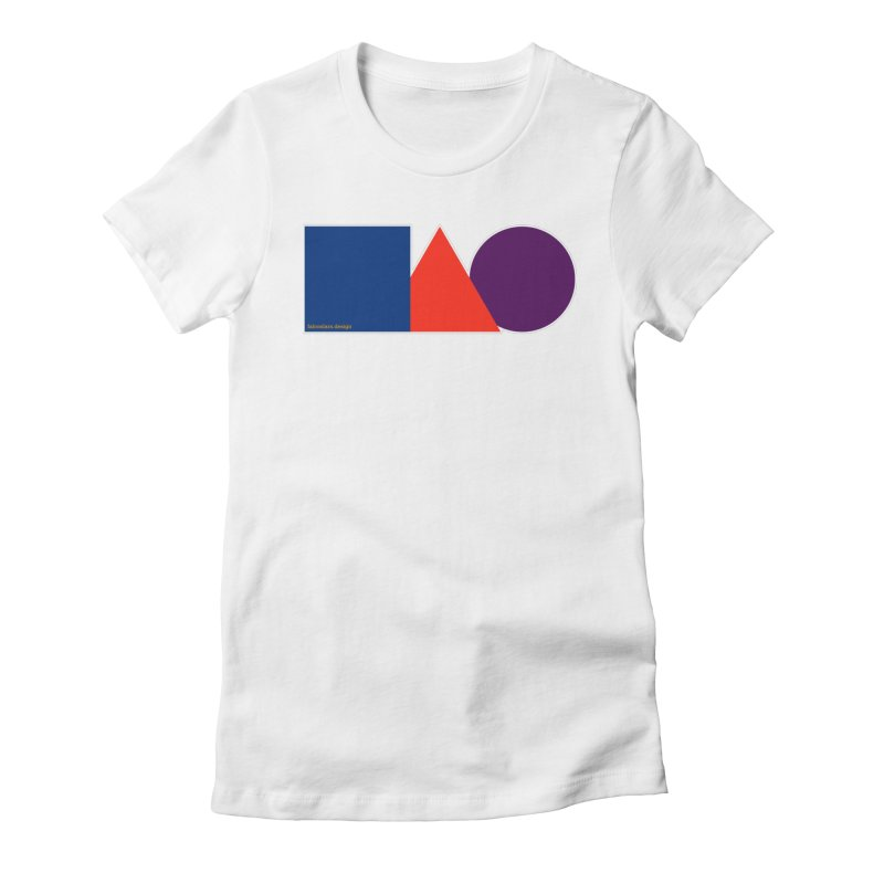 Basic Shapes Logo Women's Fitted T-Shirt by falconlara.design shop